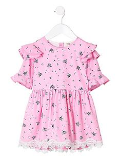 river-island-mini-mini-girls-pink-floral-frill-shoulder-dress