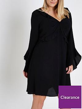 ri-plus-frill-tea-dress--black