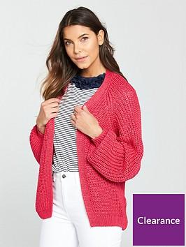 river-island-chunky-knit-cardigan--pink