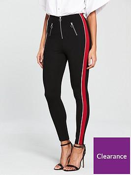 river-island-red-stripe-leggings--navy