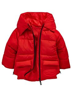 mini-v-by-very-girls-red-contrast-zip-padded-hooded-jacket