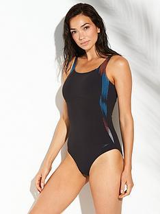 speedo-sculpture-lunalustrenbspone-piece-swimsuit-blackblue