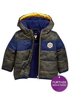 f86134418b Mini V by Very Baby Boys Camo Panel Coat