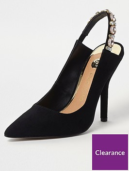 river-island-slingback-gem-court-shoe-black