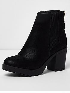 river-island-zip-back-heeled-boots-black