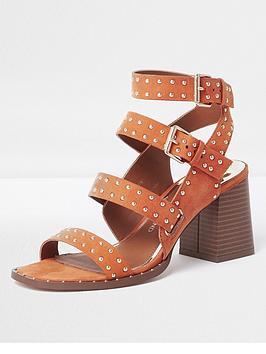river-island-river-island-multi-strap-studded-sandal--orange