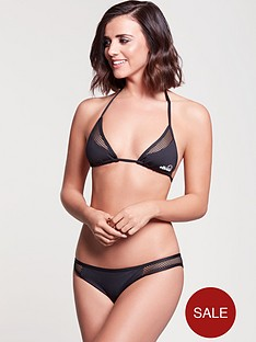 ellesse-mesh-panel-halter-neck-bikini-top-black