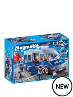 playmobil-policemen-with-van