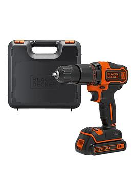 black-decker-18v-lithium-ion-2-gear-hammer-drill-with-kit-box
