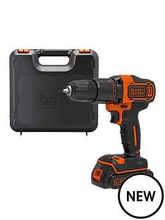 black-decker-blackdecker-18v-lithium-ion-2-gear-hammer-drill-with-kit-box