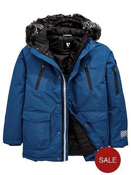 v-by-very-boys-faux-fur-trim-hooded-padded-parka-blue