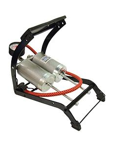 streetwize-accessories-deluxe-quality-twin-cylinder-foot-pump-270-gauge