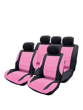 Streetwize Accessories Streetwize Accessories Think Pink Seat Cover Set Picture