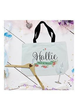Very Floral Bridal Party Bag, Flute And Hanger Set Picture