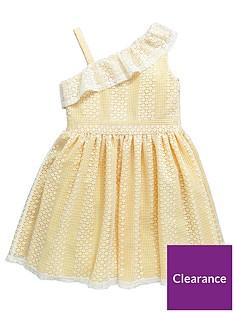 v-by-very-girls-one-shoulder-frill-dress-lemonnbsp