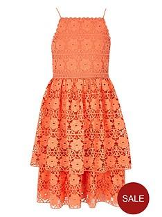 river-island-girls-orange-tiered-frill-lace-dress