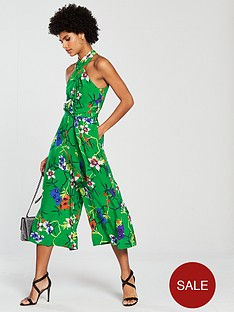 karen-millen-fresh-floral-print-silk-jumpsuit-green