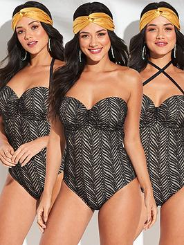 v-by-very-shapewear-lace-multiway-underwired-swimsuit-black
