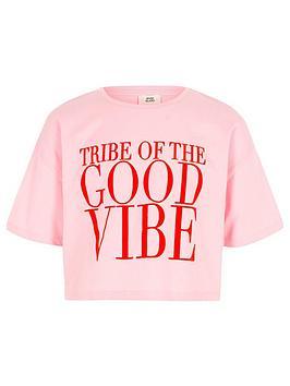 river-island-girls-pink-lsquogood-vibersquo-print-cropped-t-shirt