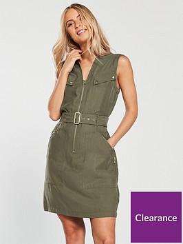 karen-millen-clean-utility-dress-khakinbsp