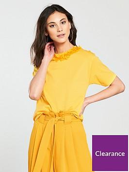 river-island-flower-neck-t-shirt--yellow