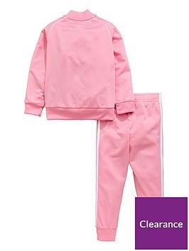 41b8ca1b7 adidas Originals Younger Girls Superstar Tracksuit - Pink ...