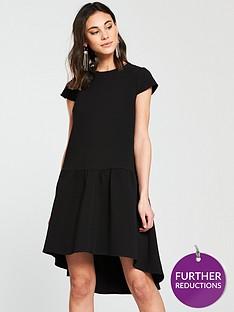 river-island-river-island-dropped-waist-swing-dress--black