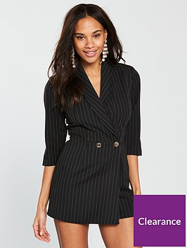river-island-pinstripe-playsuit--black
