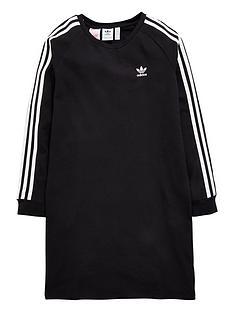 adidas-originals-girls-trefoil-dress-black