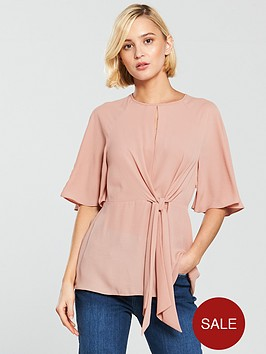 river-island-twist-front-blouse-pale-pink