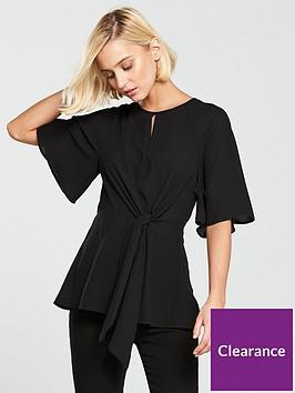 river-island-tie-front-blouse-black