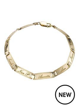 love-gold-9-carat-yellow-gold-family-name-bracelet