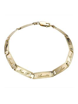 Love GOLD Love Gold 9 Carat Yellow Gold Family Name Bracelet Picture