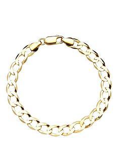 love-gold-9-carat-gold-flat-curb-bracelet