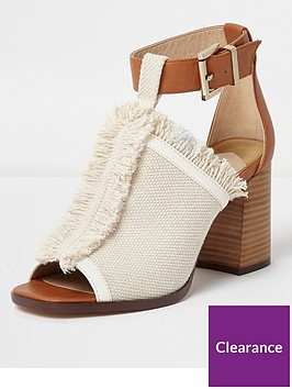 river-island-river-island-canvas-fray-edge-sandals--cream