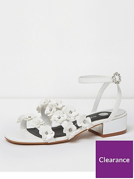 river-island-river-island-flower-strap-heeled-sandals--white