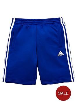 adidas-boys-three-stripe-short-royal-blue