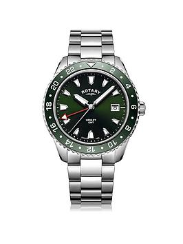 rotary-henley-green-dial-gmt-mens-watch