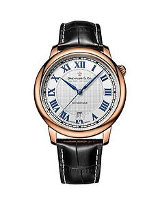 dreyfuss-co-dreyfuss-white-printed-roman-dial-rose-gold-plated-strap-mens-watch