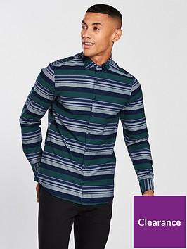 tommy-hilfiger-sportswear-slim-striped-long-sleeve-shirt-greengrey