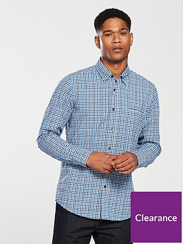 boss-casualnbsplong-sleeve-check-shirt-bright-blue