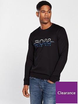 boss-logo-crew-sweatshirt-black