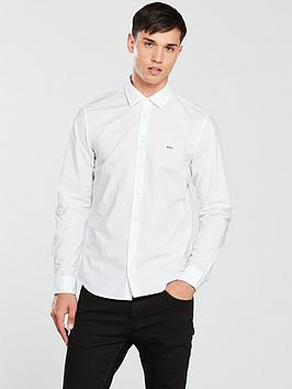 boss-ls-poplin-shirt-white