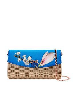 ted-baker-haarley-harmony-straw-clutch-bag-bright-blue