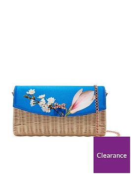 ted-baker-haarley-harmony-straw-clutch-bag-bright-blue