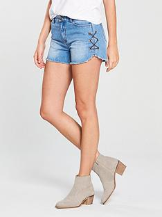 v-by-very-eyelet-amp-chain-denim-short-vintage-wash