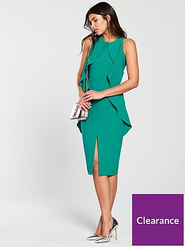 lavish-alice-woven-tiered-draped-midi-dress-jade-green