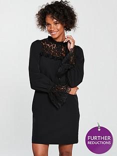 v-by-very-lace-insert-tunic-blackwhitenbsp