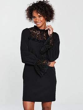v-by-very-lace-insert-tunic-blackwhitenbsp