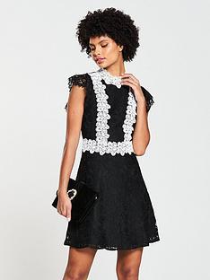 v-by-very-lace-contrast-skater-dress-blacklilac